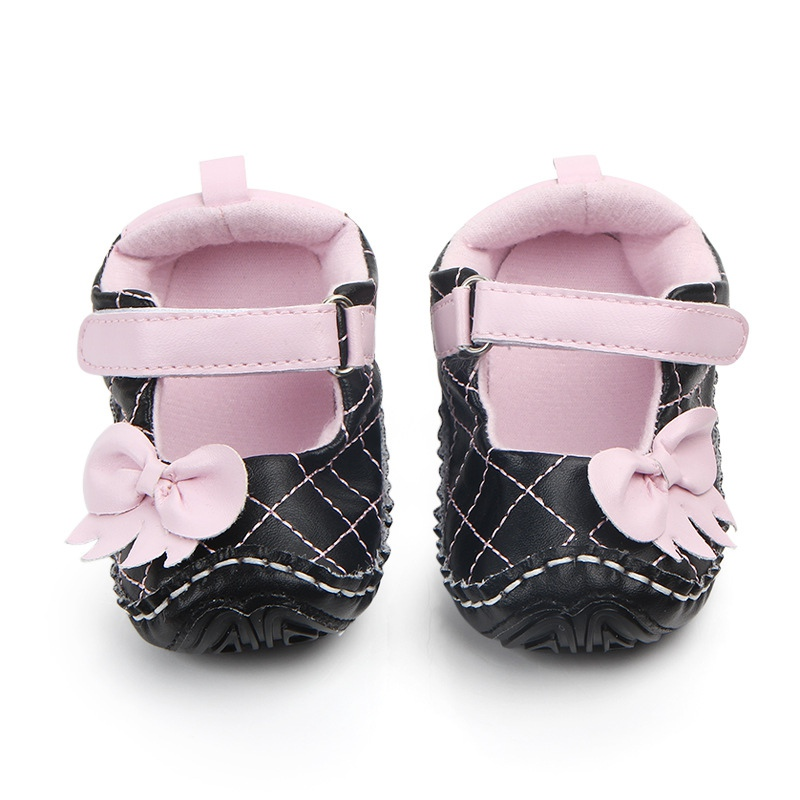 Autumn Baby Girl PU Casual Bow Shoes Spring First Walkers Newborn Cute Non-slip Soft Soled Walking Shoe