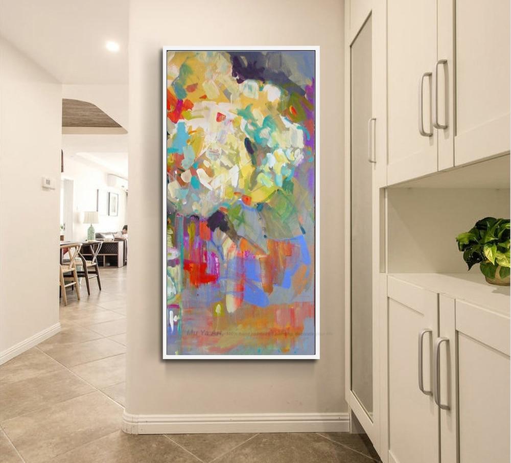 38 57 14 De Réduction Muya Fleur Décorative Peinture à L Huile Toile Photos Pour Salon Moderne Peintures Verticales Peintures Pour Salon Mur In