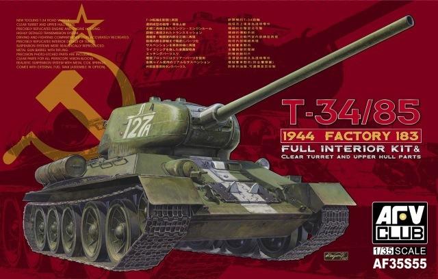Afv clube 1/35 AF35S55 segunda guerra mundial soviética T-34 / 85 1944 fábrica 183 ( completa Interior Kit )