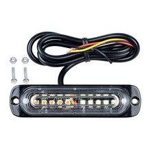 цена на Ultra Slim Strobe Warning Lights Car Truck LED Warning Lights Strobe Lights 16 Selectable Flashing Amber Emergency Beacon Lamps