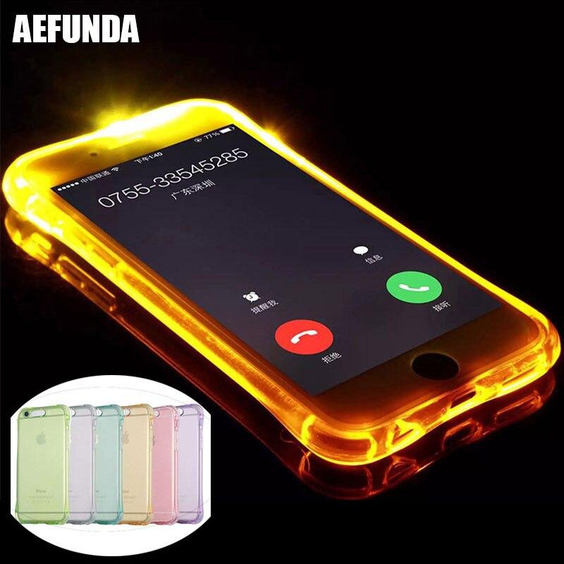 f6b29355e LED فلاش تضيء جراب هاتف ل أبل فون X XS ماكس XR 6 7 6 8 ثانية زائد 5 ...
