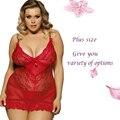 RL70218 brand new много цветов сексуальные Кружева сорочка see Through 5xl плюс размер женщин нижнее белье Strappy белье 2016 эротическое белье