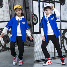 Hip Hop Dance Costume 3 PCS/SET Childrens Jazz School Street Performance Clothing Girl Modern Wear 5