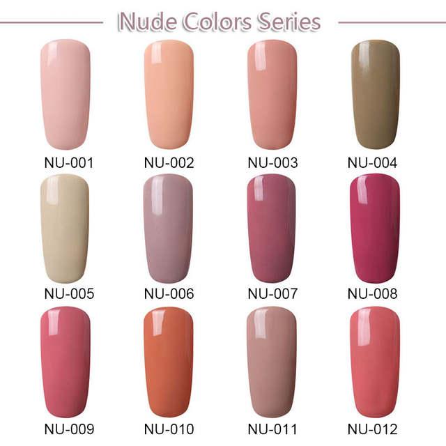 0071231b059 Online Shop FairyGlo Nail Gel Polish Set Nude Pink Color Gel Nail Polish  12pcs 1pcs Buffeer File UV Gel Polish Kit Nail Gel Kit DIY Tool Set