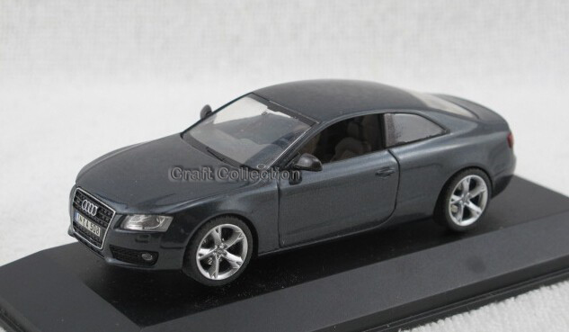 Grey 1:43 Car Model A5 Coupe Diecast Model Car Classic Toys Replica Luxury Collection Miniature Minicar