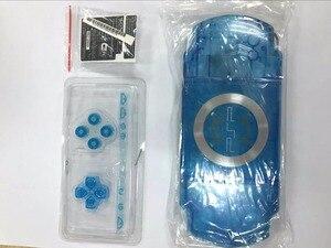 Image 3 - الأصفر الأبيض كريستال اللون ل PSP 2000 PSP2000 لعبة وحدة التحكم استبدال كامل الإسكان شل الغلاف مع أزرار عدة