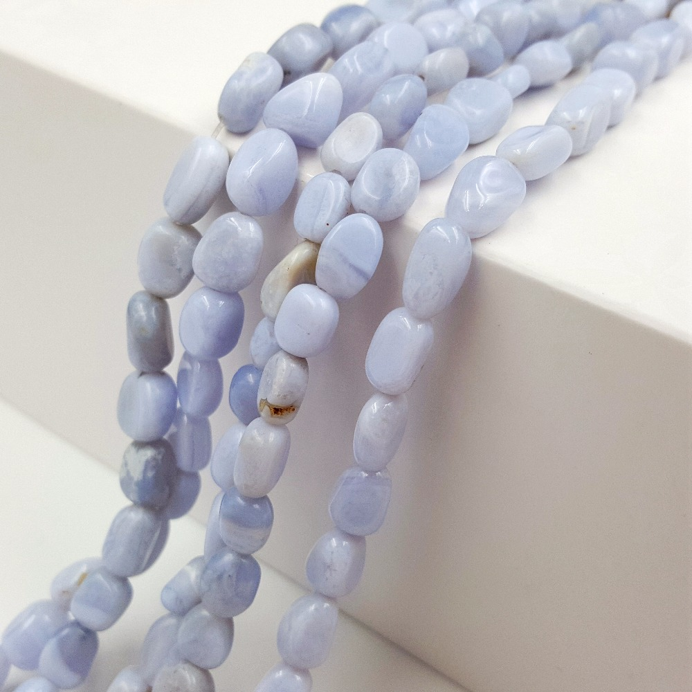 Stock Sale Natural Stone Blue lace agates Nugget freedrom shape 6-8mm Beads 15 for DIY jewelry Making