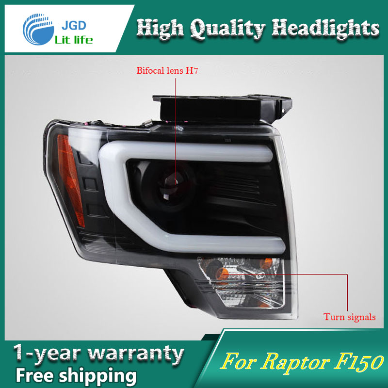 high quality Car styling case for Ford Raptor F150 2011-2014 Headlights LED Headlight DRL Lens Double Beam HID Xenon автомобильный dvd плеер joyous kd 7 800 480 2 din 4 4 gps navi toyota rav4 4 4 dvd dual core rds wifi 3g