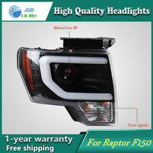 high quality Car styling case for Ford Raptor F150 2011-2014 Headlights LED Headlight DRL Lens Double Beam HID Xenon
