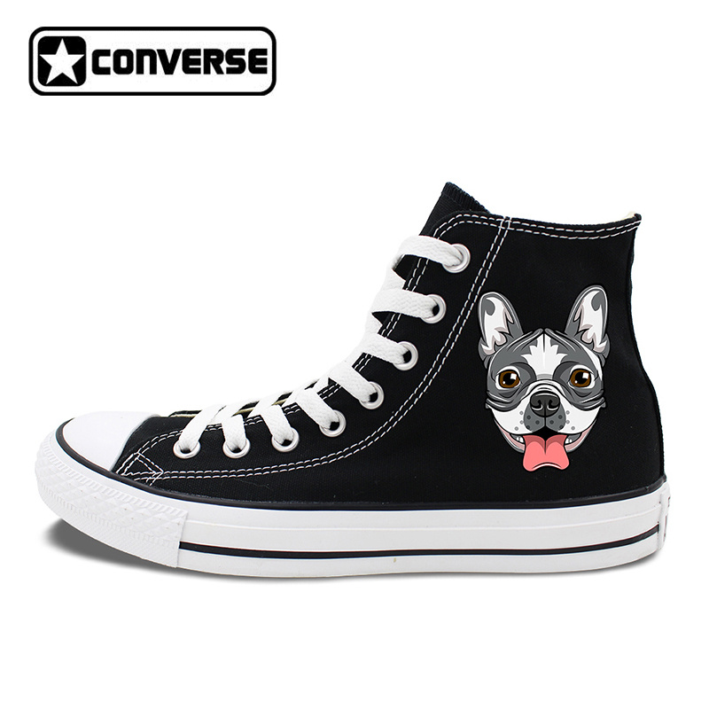 Original Design Dog Converse Shoes French Bulldog Head Canvas Sneakers Chucks Taylor Men Women Skateboarding Shoes