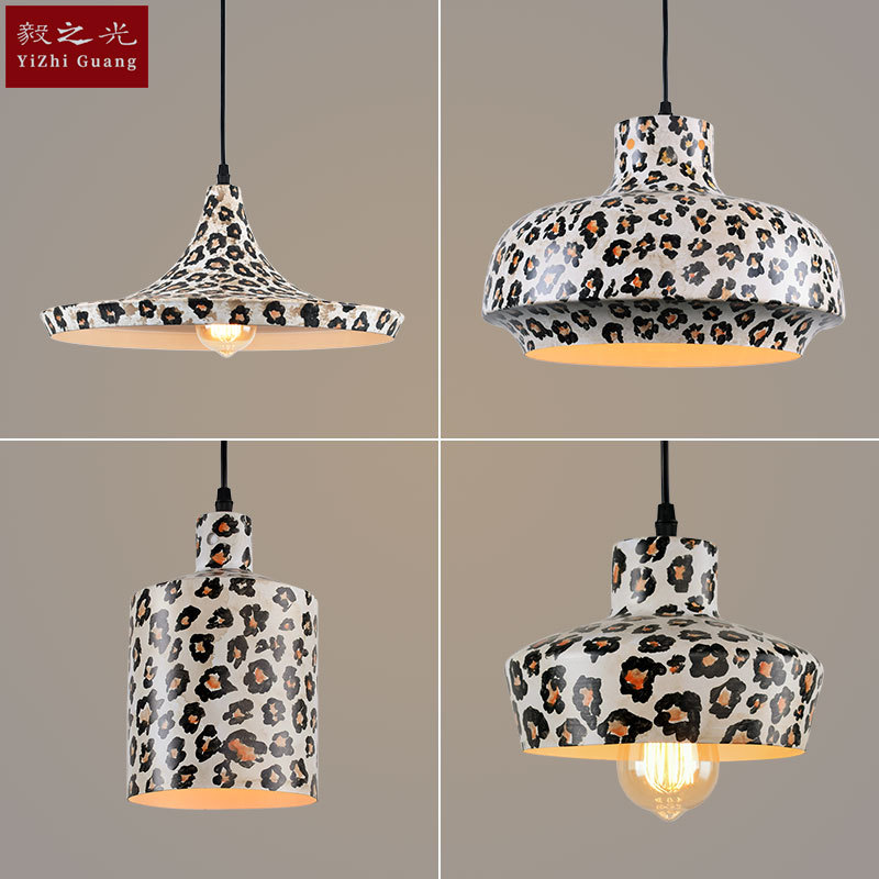 ancient ways leopard grain, wrought iron pot, droplight sitting room dining-room lighting lighting lamps and lanterns ancient ways wrought iron chandelier personality american sitting room bedroom restaurant bar counter 4 head droplight