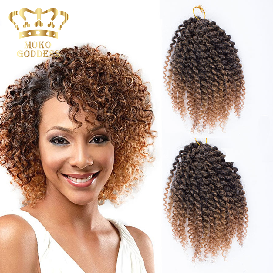 3pcs set ombre kanekalon braiding hair afro kinky twist