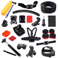 Head Chest Wrist Strap Bike Mount Helmet Kit Monopod Floating Bobber For Gopro Hero3 3 4