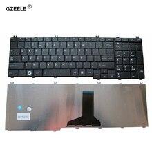 Gzeele 東芝衛星 L750 L750D L755 L755D L770 L770D L775 L775D V114346CS1 米国ノートパソコンのキーボードブラック英語 qwerty 新