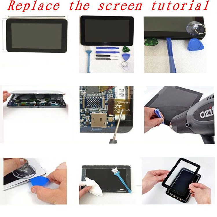 Black 10.1 Inch for Vexia Zippers Tab 10i 3G tablet pc capacitive touch screen glass digitizer panel Free shipping