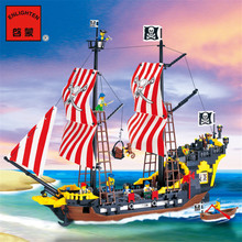 870+pcs Big Black Pearl Building Blocks Compatible with Legoingly Pirates Ship Enlighten Blocks Pirates Educational Kids Toys