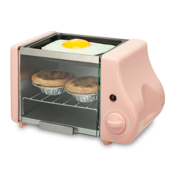 220V Mini Electric Oven 2 In 1 Multifunctional Breakfast Maker Machine Oven & Egg Frying Plate Cute Mini Oven Machine EU/AU/UK