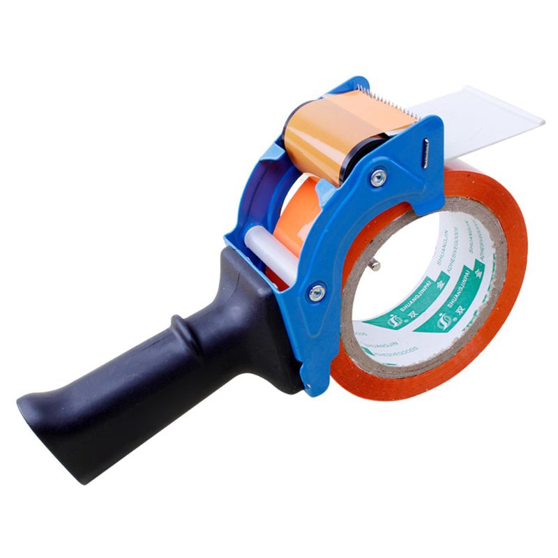 Heavy Duty Portable Sealing Tape Gun Dispenser Packaging Machine Cutter Handheld Packer Holder Random Color