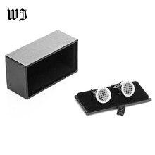 Boîte à boutons de manchette en Faux cuir pour hommes, boîte de rangement de bijoux en Faux cuir noir, boîte de cadeau, porte-boutons de manchette
