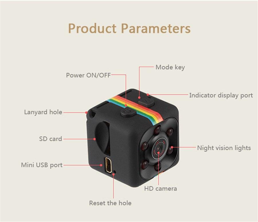 Original SQ8 SQ11 Mini Camera And Video Recorder With Full HD IR Night Vision 12