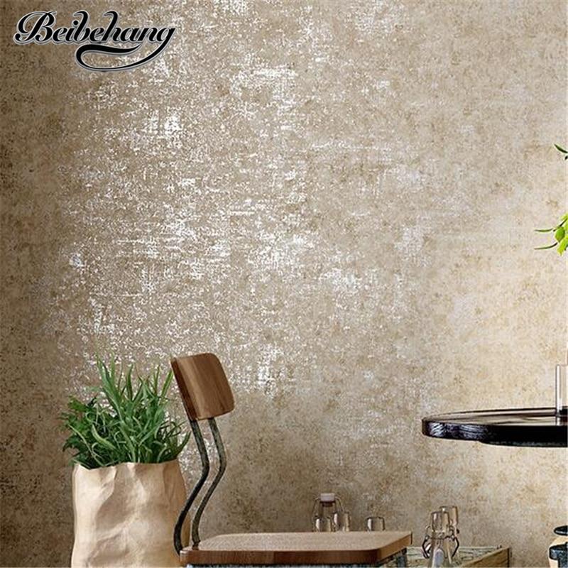 Beibehang industrial vento cor sólida não-tecidos papel de parede sala de estar quarto simples papel de parede loja de roupas simples nostalg