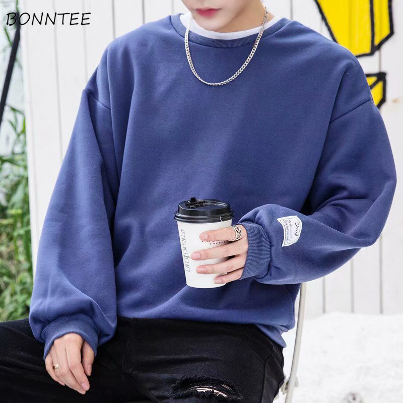 Men's Clothing Capable Hoodies Men Loose Solid All-match Korean Style Daily Trendy Soft Simple High Quality Soft Sweatshirts Mens Ulzzang Hoodie Chic