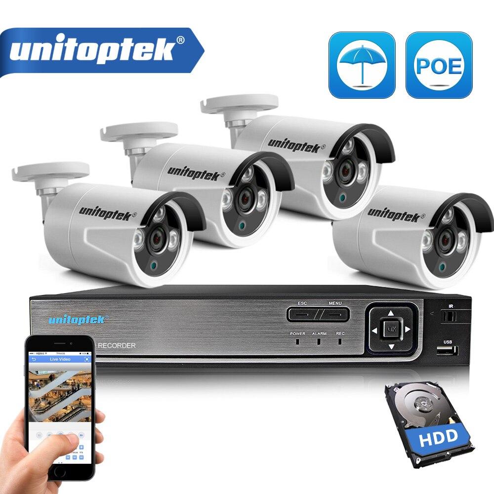 Plug And Play 4CH POE NVR Kit CCTV Système 1080 P 4MP IP Caméra Extérieure IP66 Étanche de Sécurité Vidéo Surveillance caméra Ensemble P2P