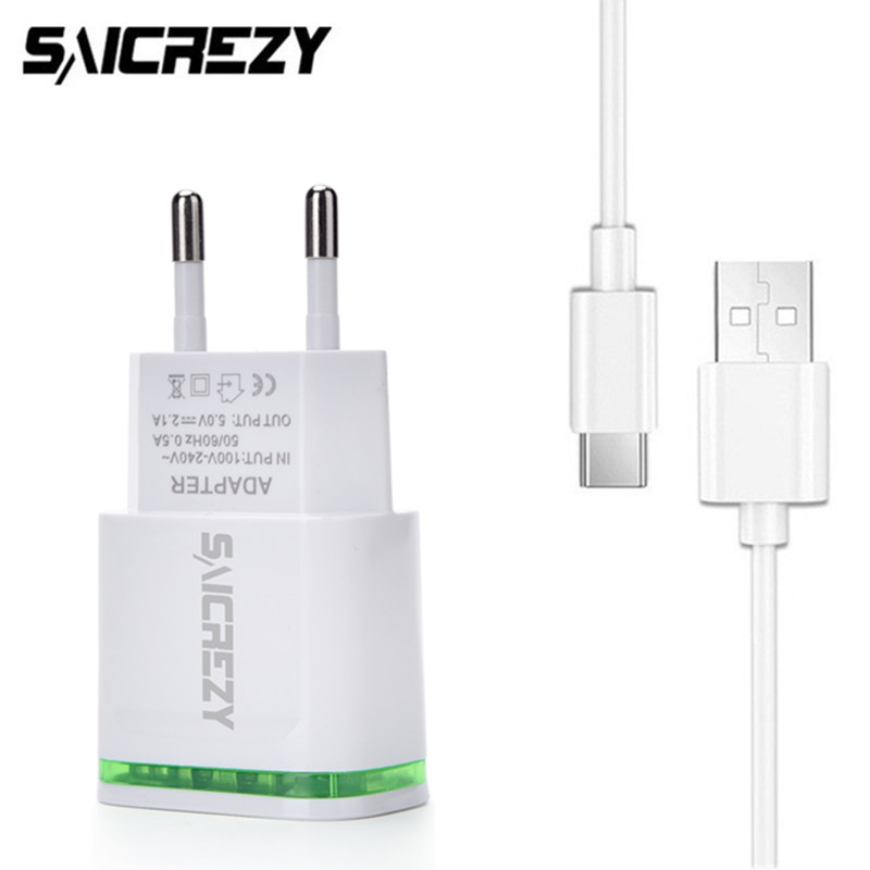 USB Type-C Wall Travel Charger + USB Type C Cable for Sony Xperia XA1 Plus /XZ1 Compact /XZ Premium HTC 10 EVO Google Pixel 2 XL