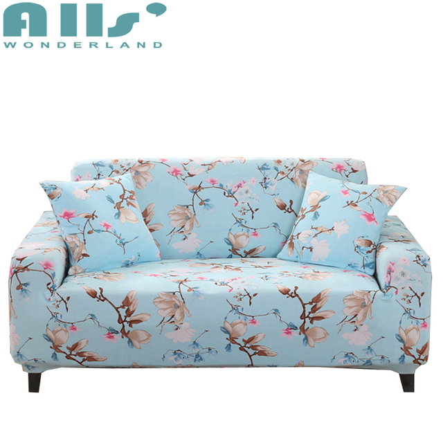 Blue Couch Covers For Living Room Flower Sofa Slipcover Furniture Protector  Modern Decoration Cheap Furniture Cover