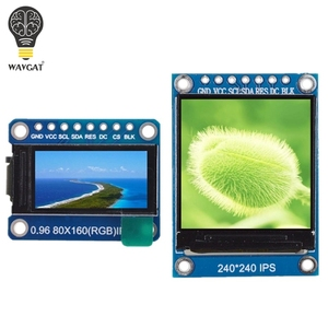 WAVGAT TFT Display 0.96 / 1.3 inch IPS 7P SPI HD 65K Full Color LCD Module ST7735 / ST7789 Drive IC 80*160 240*240 (Not OLED)(China)