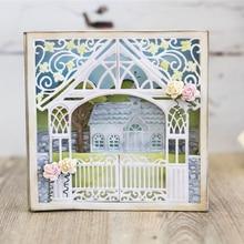 Красивые и любящий дом резки металла умирает Трафареты для DIY Скрапбукинг бумажные карточки ручной работы ремесленничество украшения