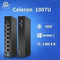 Маршрутизатор брандмауэра pfSense 6 Intel 82583 В Ethernet LAN Mini PC NIC Celeron 1007U Мини рабочего Промышленный компьютер Windows 10/8/7