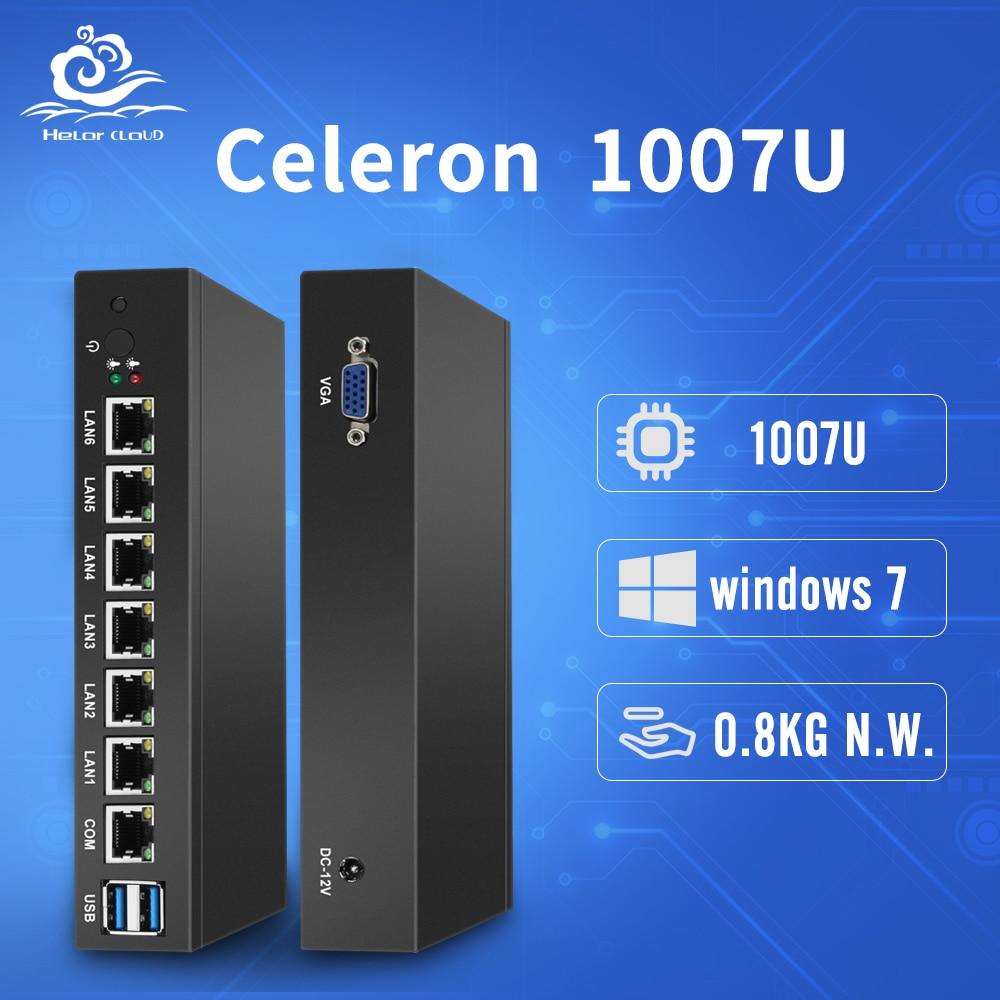 Routeur Firewall pfSense 6 Intel 82583 v Ethernet LAN Mini PC NIC Celeron 1007U Mini Bureau Ordinateur Industriel Windows 10 /8/7