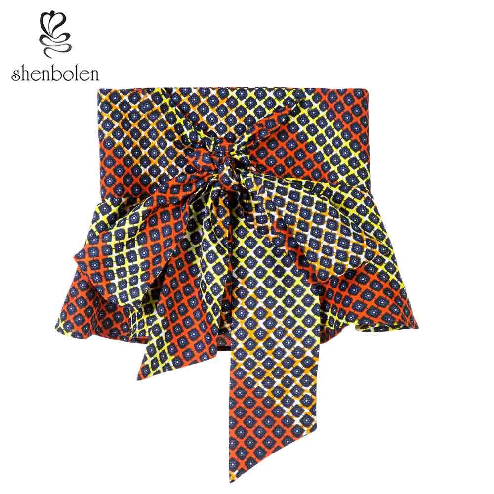African Fashion Women Belt Female Individuality Ankara Printed Batik Belt Women Beautiful Wax Printing Batik Waistband in Africa Clothing from Novelty Special Use