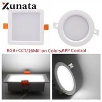 Milight FUT063 6W 9W Round/Square RGB+CCT LED Downlight Dimmable LED Spotlight Ceiling Aluminum Lampada LED Lamp Blub Light
