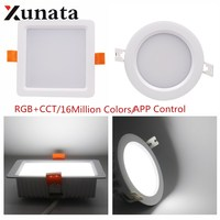 Milight FUT063 6W 9W Round/Square RGB+CCT LED Downlight Dimmable LED Spotlight Ceiling Aluminum Lampada LED Lamp Blub Light