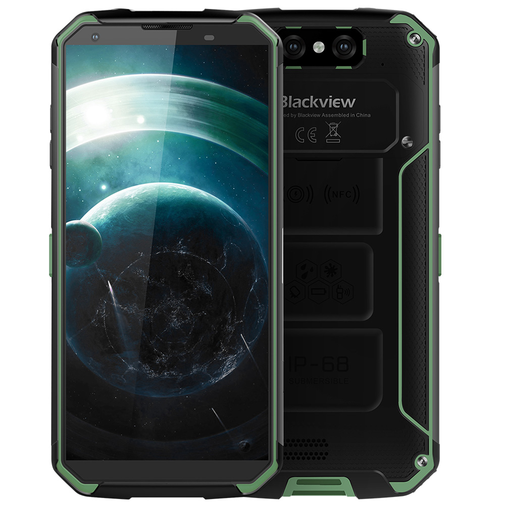 Blackview BV9500 4G Smartphone 5.7 Android 8.1 MT6763T Octa Core 4GB+64GB 16.0MP Dual Rear Cameras Wireless Charging Cellphone