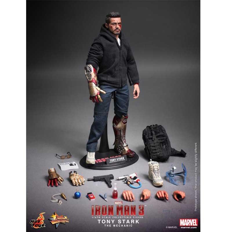 Hot Toys Iron Man 3 THE MANDARIN Figure 1//6 BLACK TEE