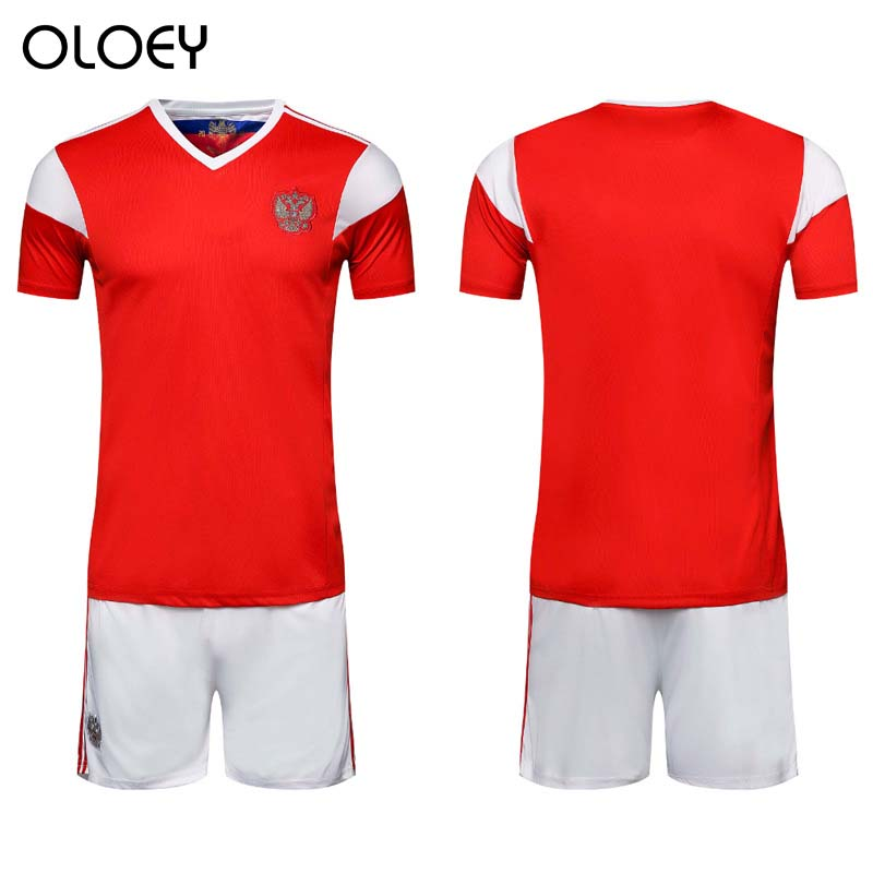 OLOEY 2018 World Cup Russia Home Jersey Russian Tracksuits Football Team Training Sporting Suits Soccer Sweatsuits Running Set