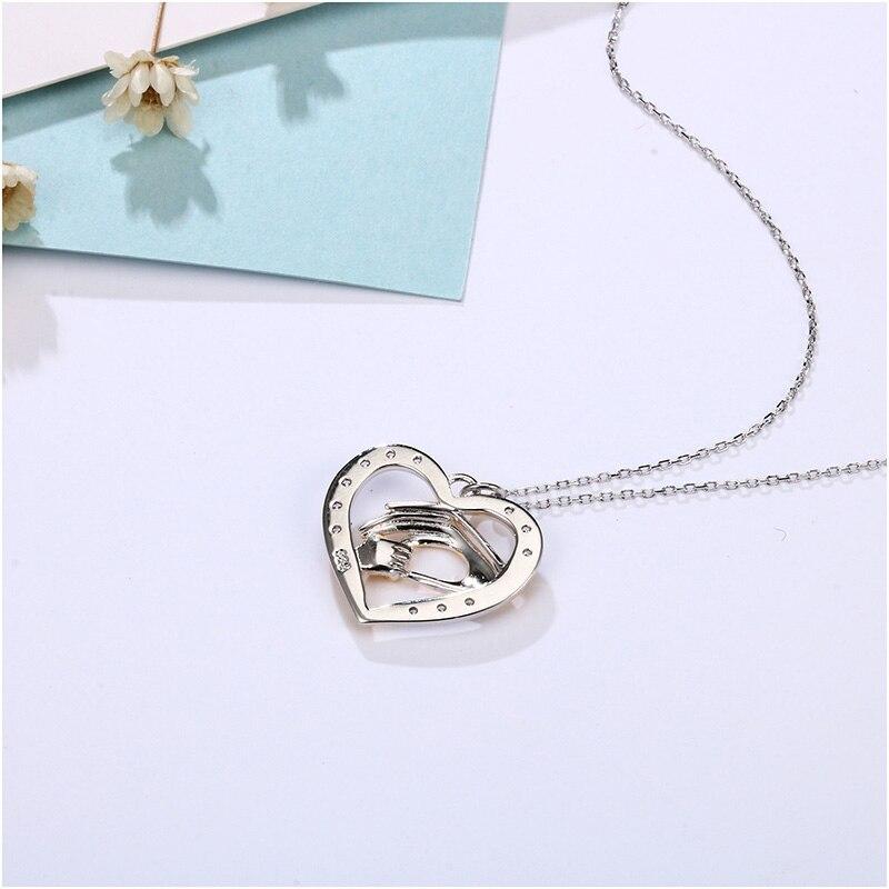 Shineland mama voli bebu u ruci 925 Sterling Silver Fashion AAA - Modni nakit - Foto 3