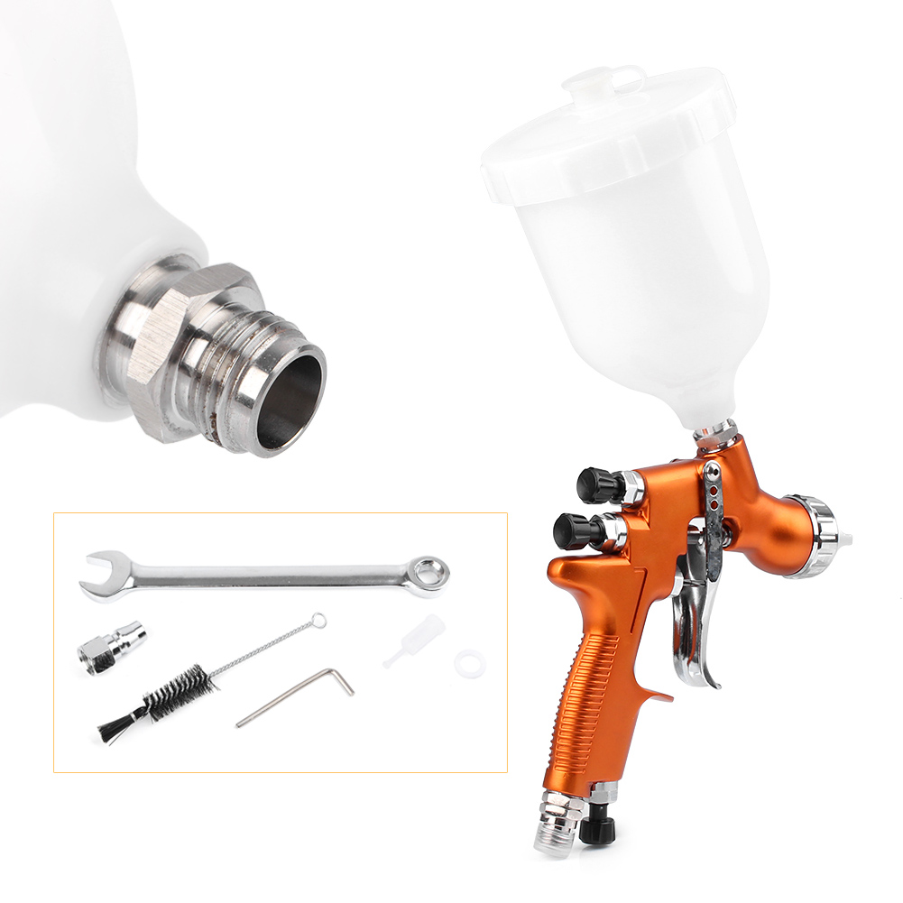 For Auto Car Body Paint 1x HD-2 HVLP Air Gravity Feed Spray Gun Kit 1.3mm Nozzle Coat Paint Repair Tool sat0080 air paint gun pistolet peinture car paint sprayers lvmp 600ml cup gravity feed pneumatic spray gun