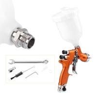 For Auto Car Body Paint 1x HD 2 HVLP Air Gravity Feed Spray Gun Kit 1.3mm Nozzle Coat Paint Repair Tool