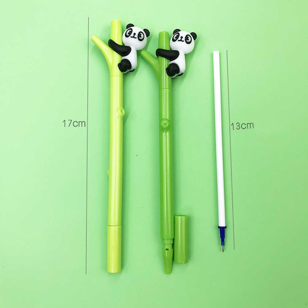 0.5mm de Tinta Preta Esferográfica Panda Dos Desenhos Animados Rollerball Caneta Estudante Papelaria Presente Hot