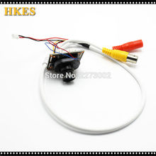 HKES 34pcs/Lot HD 1.3mp CCTV AHD Camera Module with BNC Port Cable and 3.6mm Lens
