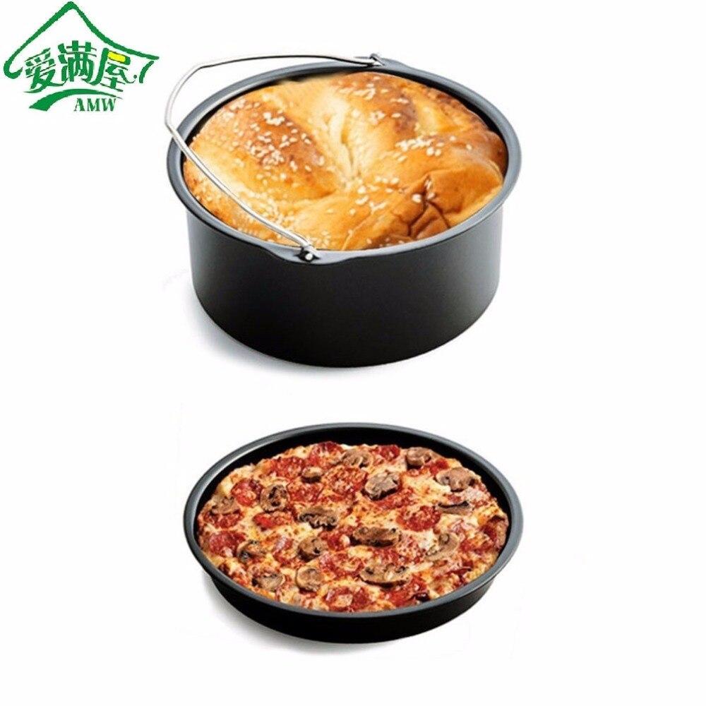 AMW 5 pcs/ensemble Air Friteuse Cuisson Panier 7-Pouces Pizza Plaque Grill Pot Tapis de Stand Multi-Maison fonctionnelle accessoires de cuisine