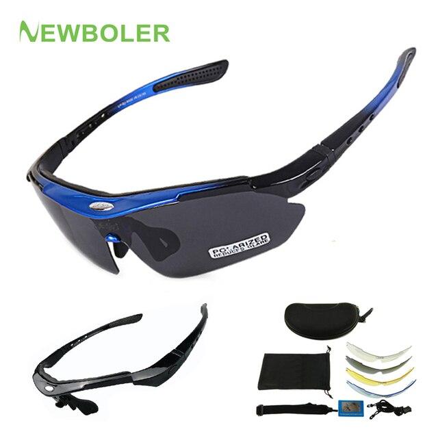 NEWBOLER 2 Frame Polarized Ciclismo Óculos de Sol Das Mulheres Dos Homens de Esportes Ao Ar Livre Óculos de Bicicleta Bicicleta Óculos Goggles Óculos Lente 5 1