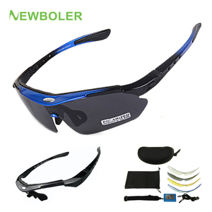 NEWBOLER 2 Frame Polarized Cycling Sun Glasses Outdoor Sports Bicycle Glasses Men Women Bike Sunglasses Goggles Eyewear 5 Lens(China)