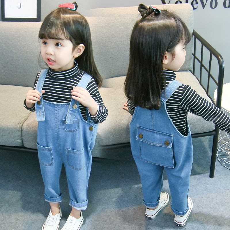 04c65813684 Kids Toddler Baby Little Girl Boy Baby Denim Jumpsuit Jeans For Girls Boys  Pocket Pants Overalls 1 2 3 4 5 Years Old Clothes 34