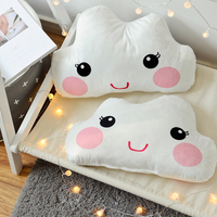 White Cute Ins Style Plush Pillow Stuffed Cotton Cushion Doll Clouds Pillow Sofa Back Pillow Girlfriend Birthday Holiday Gifts