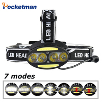 Headlight 30000 Lumen headlamp 4* T6 +2*COB+2*Red LED Head Lamp Flashlight Torch Lanterna for cycling hunting